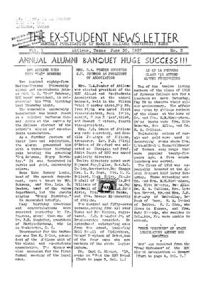 The Ex-Student News Letter, June 30, 1937