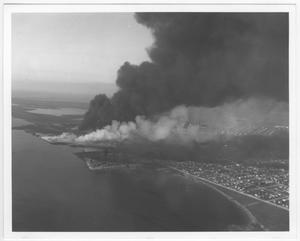 [An aerial view of the port area after the 1947 Texas City Disaster]