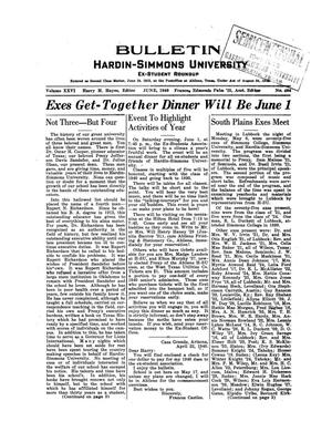 Primary view of object titled 'Bulletin: Hardin-Simmons Ex-Student Roundup, June, 1940'.