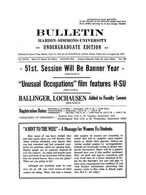 Primary view of object titled 'Bulletin: Hardin-Simmons Ex-Student Roundup, August 1942'.