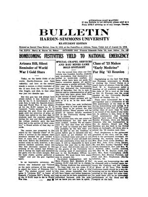 Bulletin: Hardin-Simmons Ex-Student Roundup, October 1942