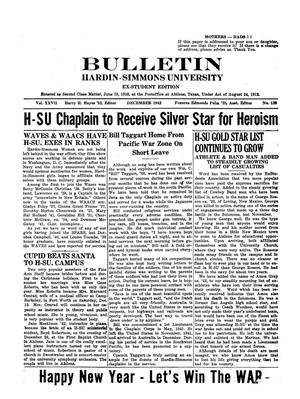 Primary view of object titled 'Bulletin: Hardin-Simmons University, Ex-Student Edition, December 1942'.