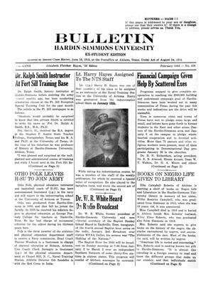 Bulletin: Hardin-Simmons University, Ex-Student Edition, February 1944