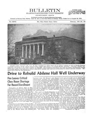 Bulletin: Hardin-Simmons University, Ex-Student Edition, February, 1947