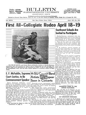 Bulletin: Hardin-Simmons University, Ex-Student Edition, April, 1947
