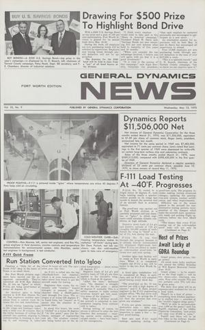 Primary view of object titled 'General Dynamics News, Volume 23, Number 9, May 13, 1970'.