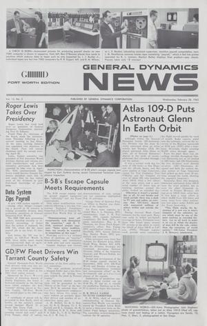 General Dynamics News, Volume 15, Number 5, February 28, 1962