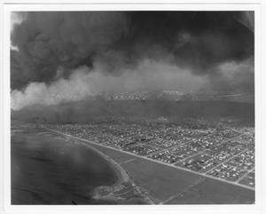 [An aerial view of a residential area after the 1947 Texas City Disaster]