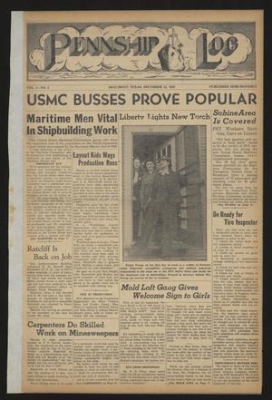 Pennship Log (Beaumont, Tex.), Vol. 1, No. 2, Ed. 1 Tuesday, December 15, 1942