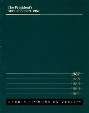 Primary view of object titled 'The President's Annual Report 1987'.