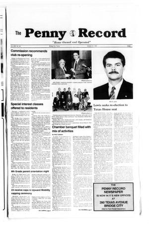 Primary view of The Penny Record (Bridge City, Tex.), Vol. 31, No. 38, Ed. 1 Tuesday, January 30, 1990
