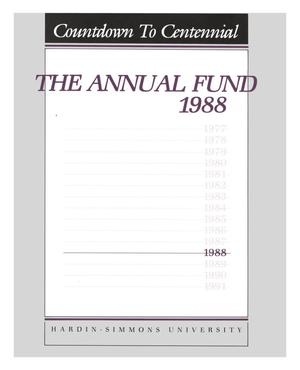 Primary view of object titled 'Countdown To Centennial: The Annual Fund 1988'.
