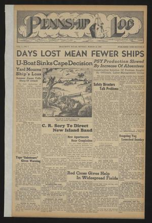 Pennship Log (Beaumont, Tex.), Vol. 1, No. 8, Ed. 1 Monday, March 15, 1943