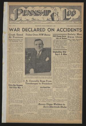 Pennship Log (Beaumont, Tex.), Vol. 1, No. 5, Ed. 1 Monday, February 1, 1943