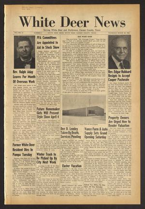 Primary view of White Deer News (White Deer, Tex.), Vol. 4, No. 2, Ed. 1 Thursday, March 28, 1963