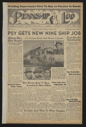 Pennship Log (Beaumont, Tex.), Vol. 1, No. 7, Ed. 1 Monday, March 1, 1943