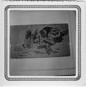 Primary view of object titled '[Drawing of a Running Dog]'.