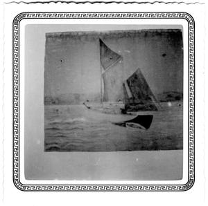 Primary view of object titled '[Painting of a Sailboat]'.