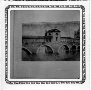 Primary view of object titled '[Arched Bridge Over a River]'.