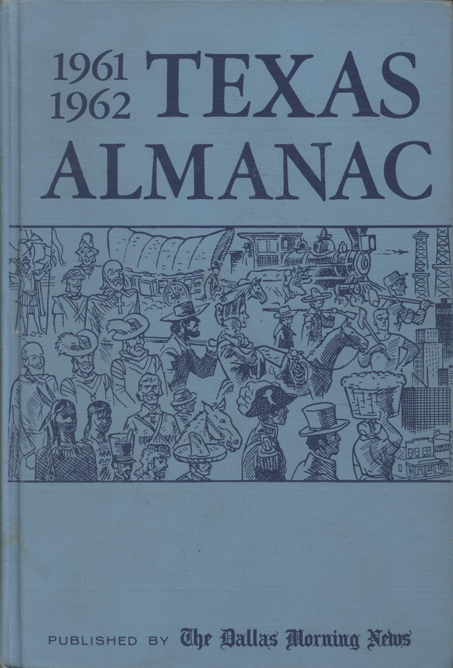 Texas Almanac, 1961-1962                                                                                                      Front Cover