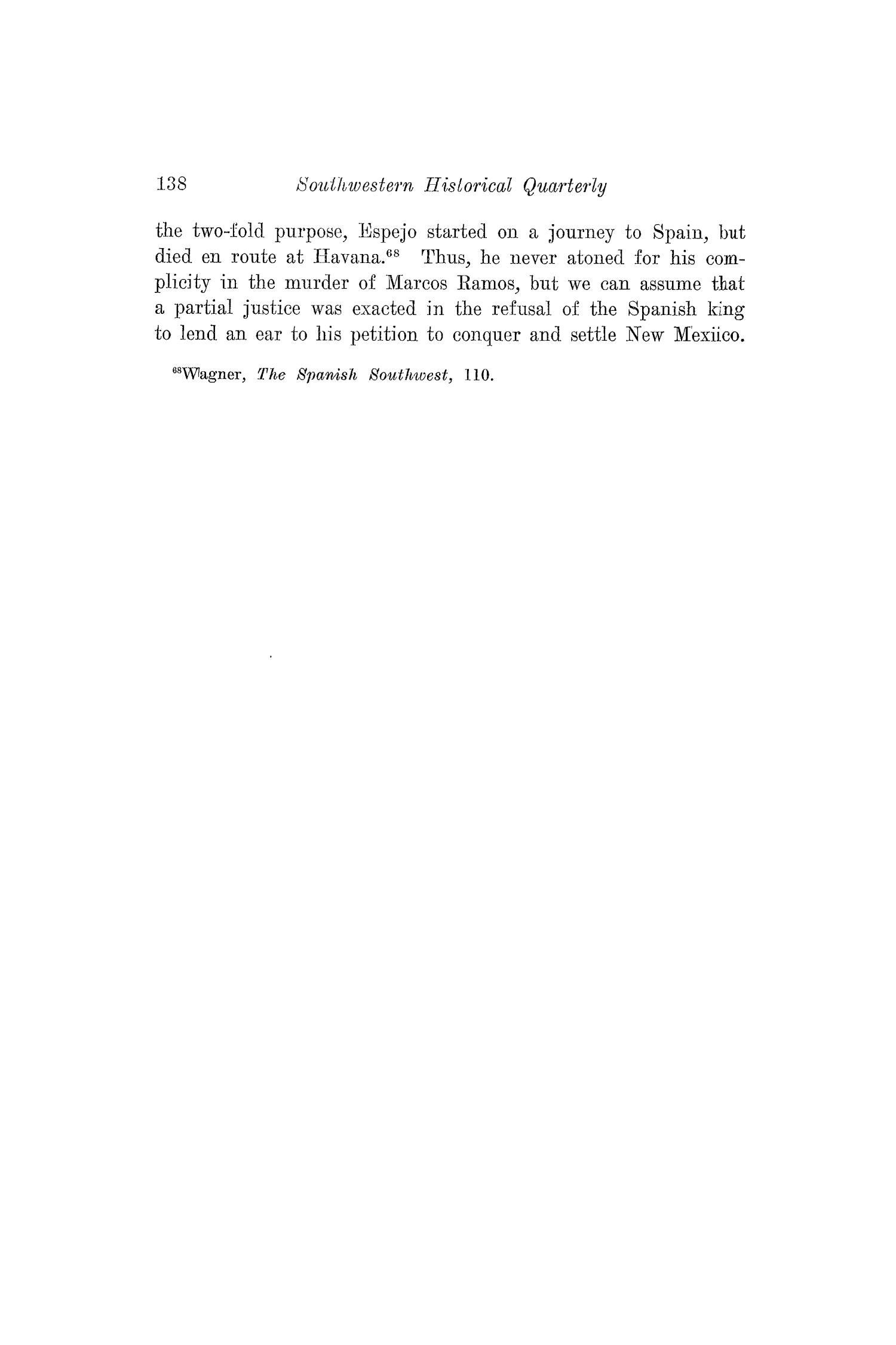 The Southwestern Historical Quarterly, Volume 30, July 1926 - April, 1927                                                                                                      138