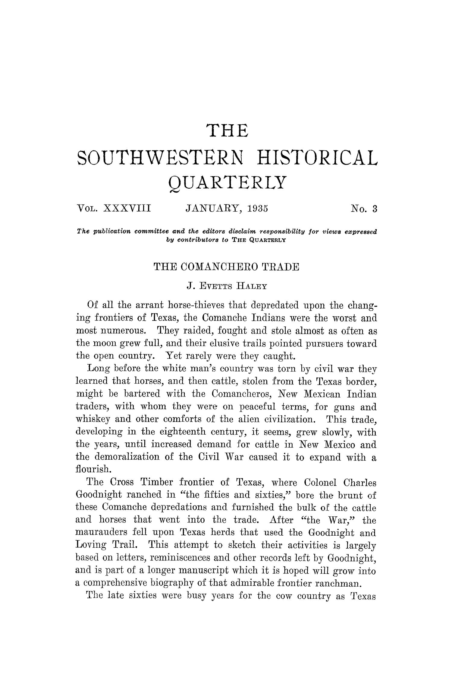 The Southwestern Historical Quarterly, Volume 38, July 1934 - April, 1935                                                                                                      157