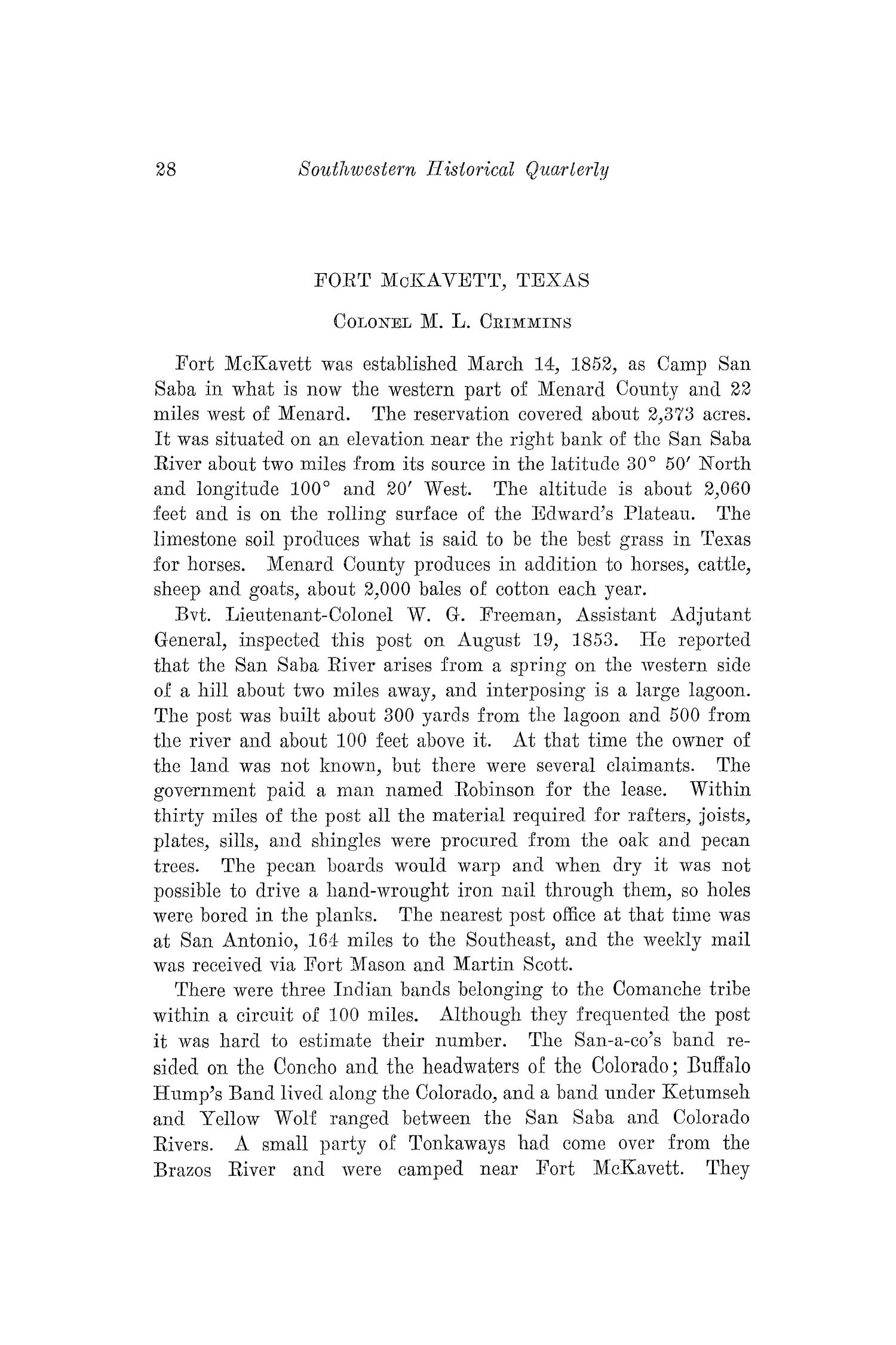 The Southwestern Historical Quarterly, Volume 38, July 1934 - April, 1935                                                                                                      28
