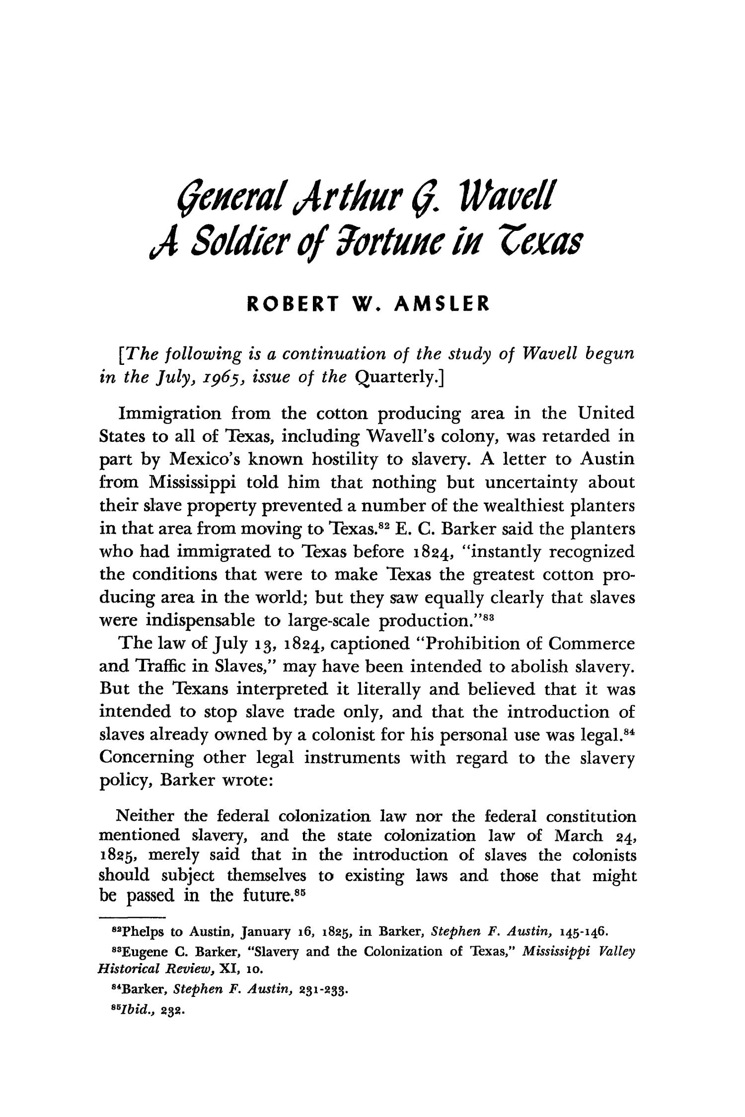 The Southwestern Historical Quarterly, Volume 69, July 1965 - April, 1966                                                                                                      186