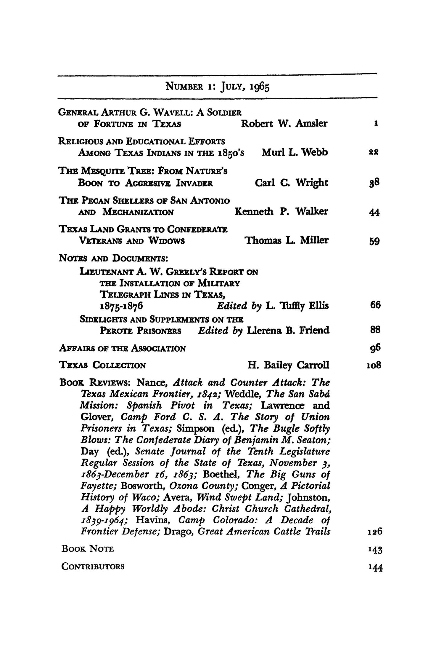 The Southwestern Historical Quarterly, Volume 69, July 1965 - April, 1966                                                                                                      None