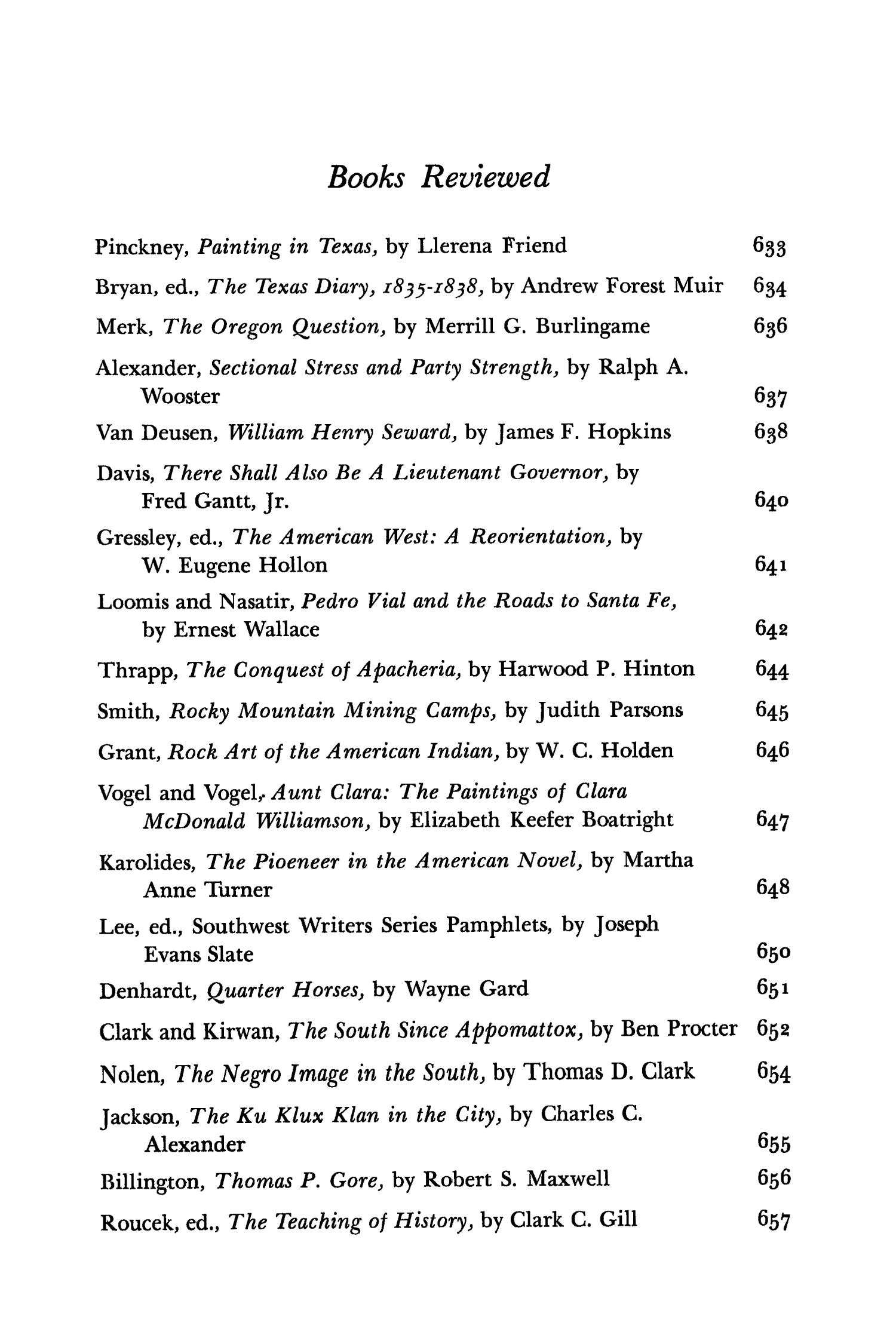 The Southwestern Historical Quarterly, Volume 71, July 1967 - April, 1968                                                                                                      None