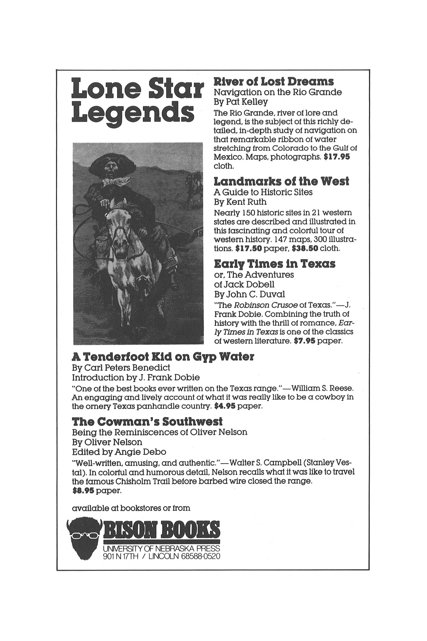 The Southwestern Historical Quarterly, Volume 90, July 1986 - April, 1987                                                                                                      None
