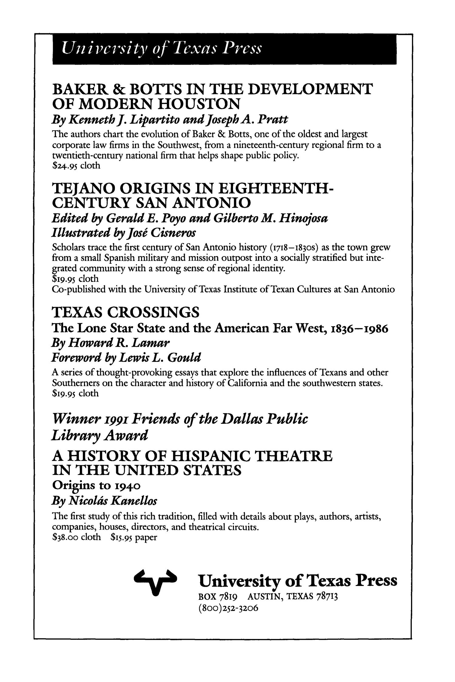 The Southwestern Historical Quarterly, Volume 95, July 1991 - April, 1992                                                                                                      None