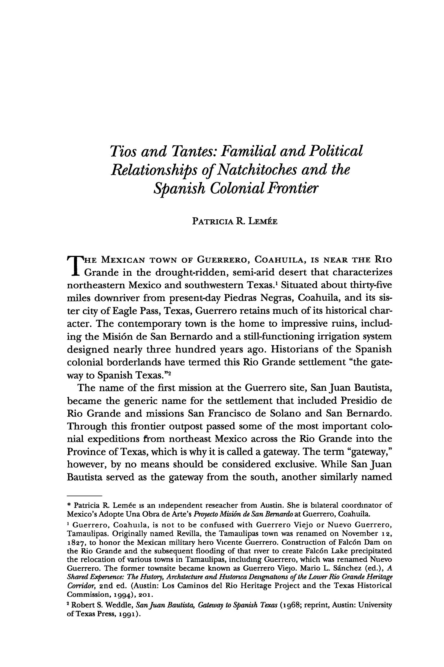 The Southwestern Historical Quarterly, Volume 101, July 1997 - April, 1998                                                                                                      341
