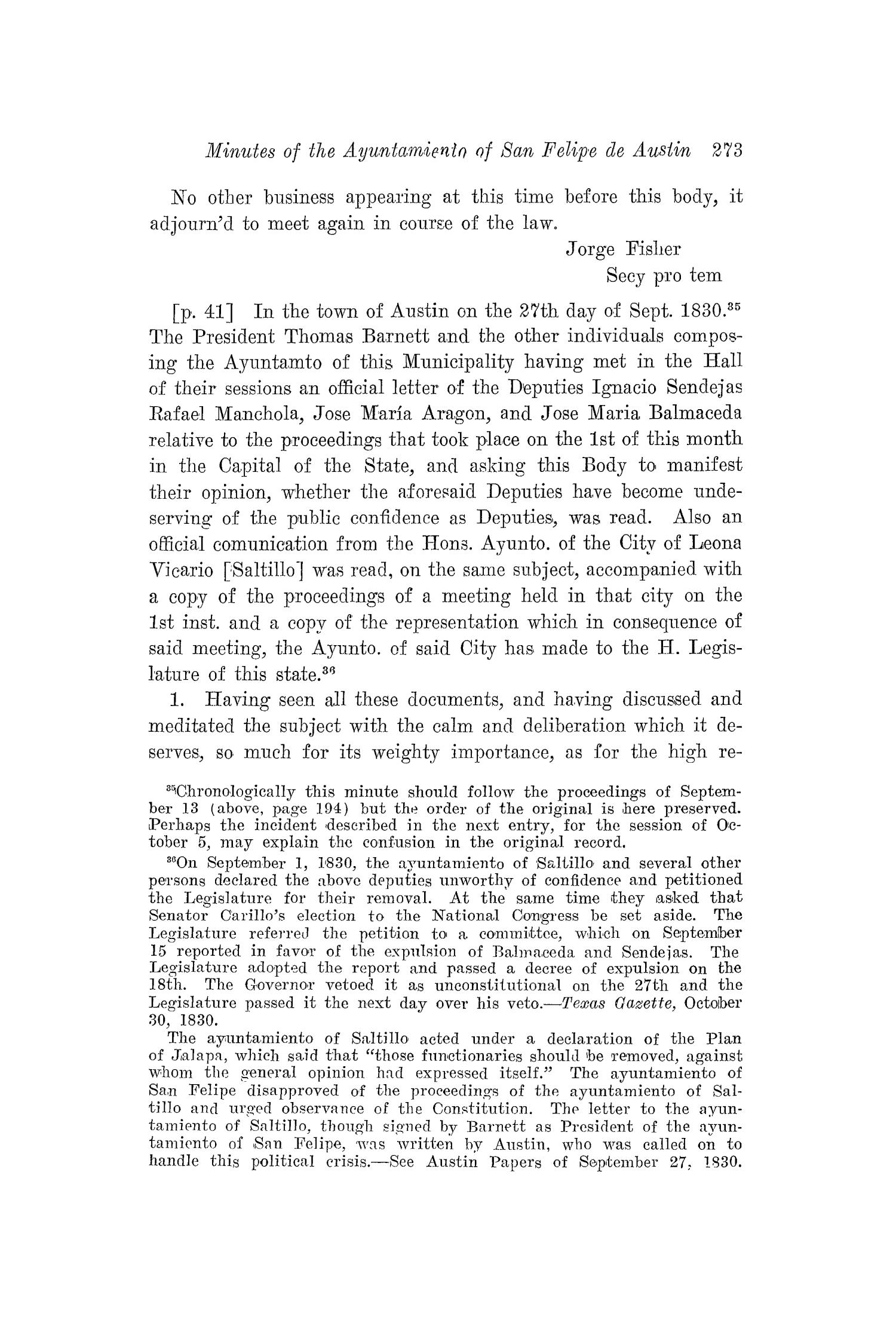 The Southwestern Historical Quarterly, Volume 22, July 1918 - April, 1919                                                                                                      273