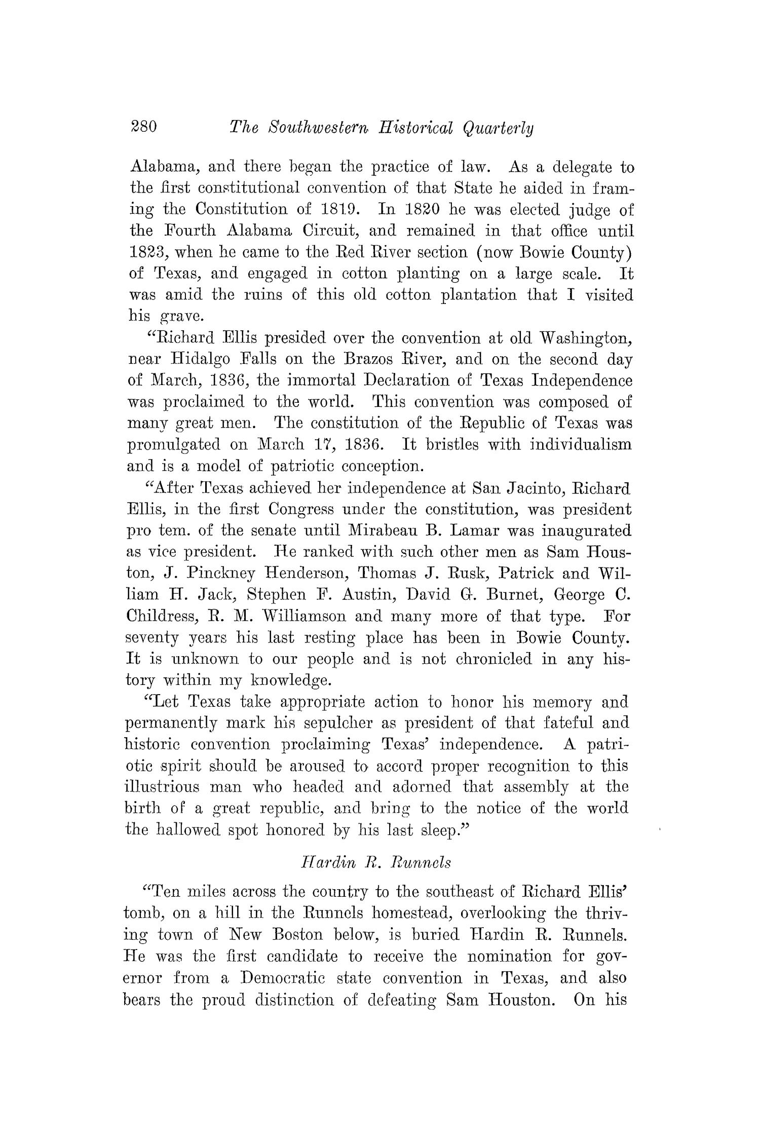 The Southwestern Historical Quarterly, Volume 22, July 1918 - April, 1919                                                                                                      280