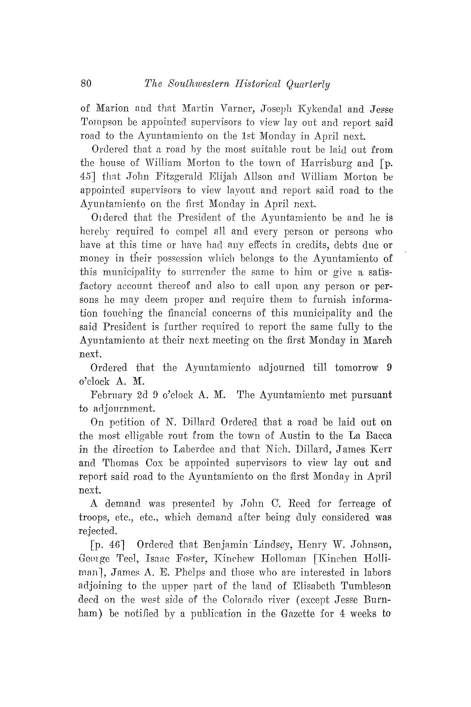 The Southwestern Historical Quarterly, Volume 22, July 1918 - April, 1919                                                                                                      80