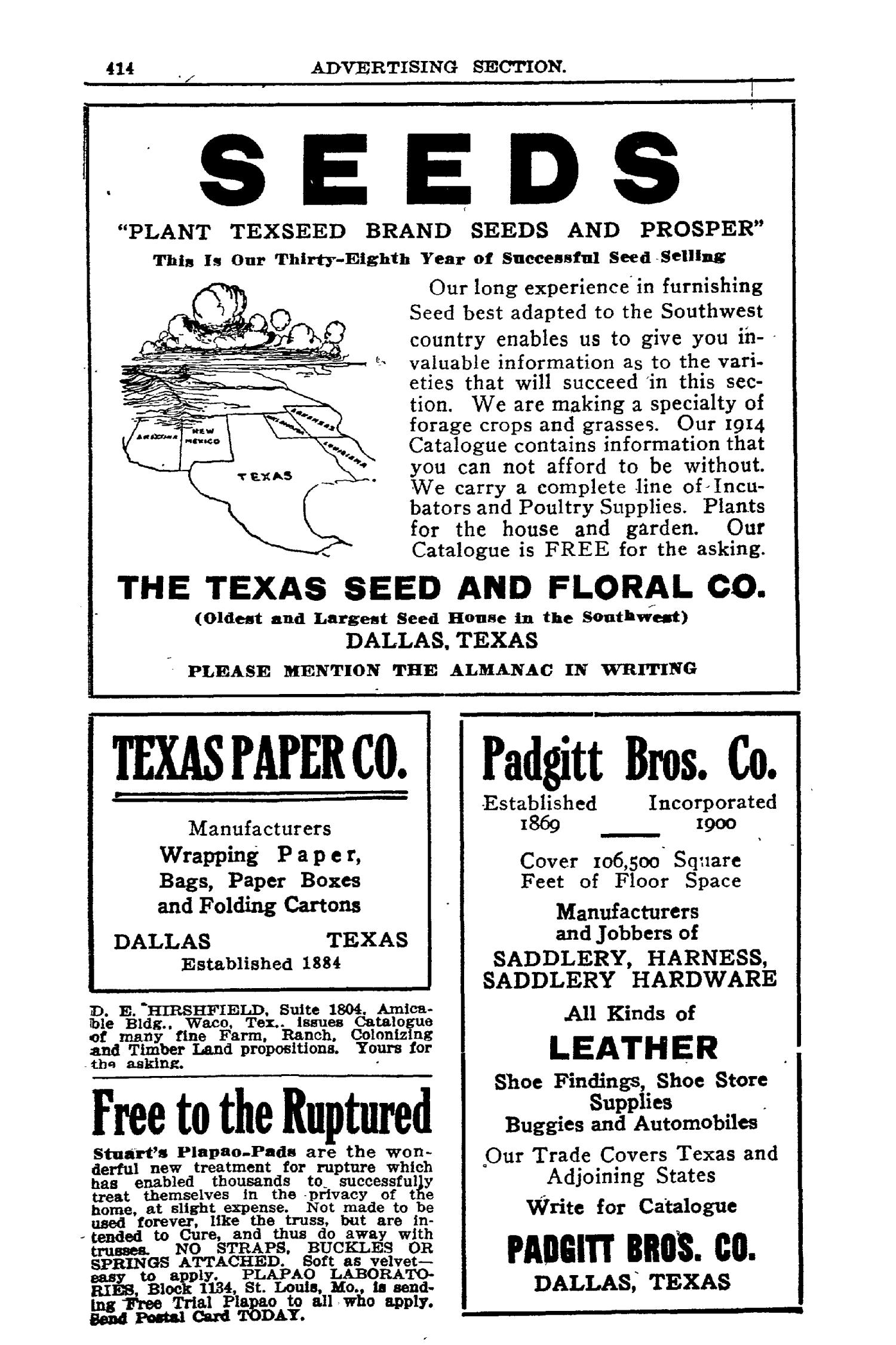 Texas Almanac and State Industrial Guide 1914                                                                                                      414