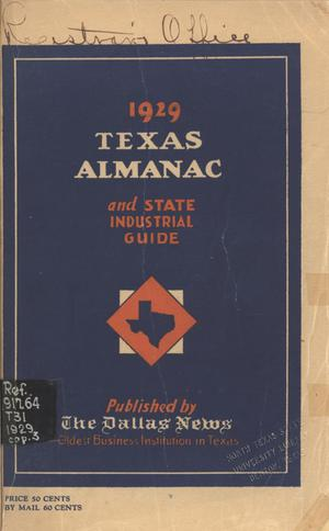 Primary view of object titled 'The Texas Almanac and State Industrial Guide 1929'.