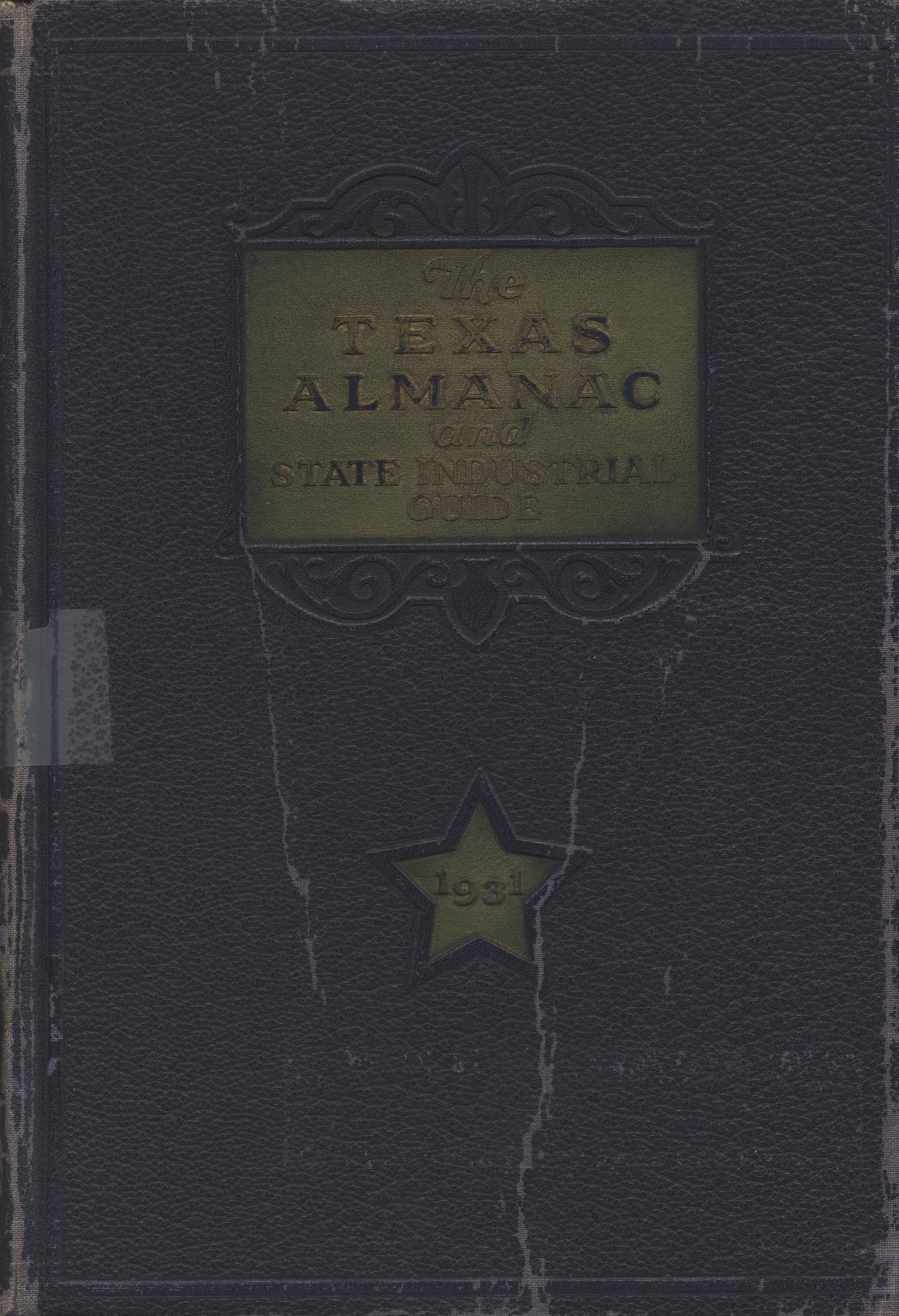 Texas Almanac and State Industrial Guide 1931                                                                                                      Front Cover
