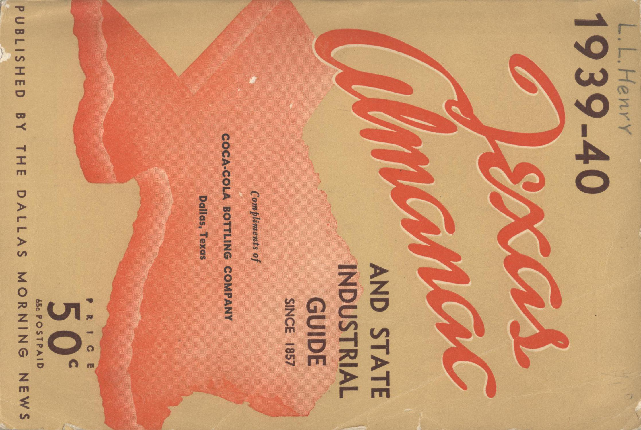 Texas Almanac, 1939-1940                                                                                                      Front Cover