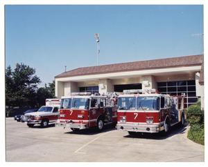Primary view of object titled '[Dallas Fire Department Station #7]'.