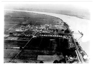 Primary view of object titled '[Aerial view of the Pan American Refinery in Texas City in 1947]'.