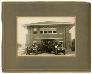 Primary view of object titled '[Dallas Fire Department Station #8 Group Portrait]'.