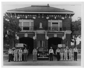 Primary view of object titled '[Group Portrait of the Dallas Fire Department Station #6]'.