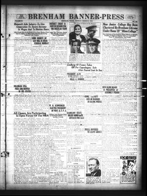 Primary view of Brenham Banner-Press (Brenham, Tex.), Vol. 50, No. 291, Ed. 1 Monday, March 5, 1934