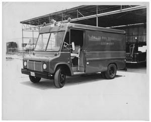 Primary view of object titled '[Aero Unit Van for the Dallas Fire Department]'.