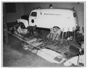 Primary view of object titled '[Dallas Rescue Van & Equipment]'.