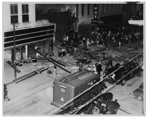 Primary view of object titled '[Collapsed Building on Elm Street, Dallas]'.