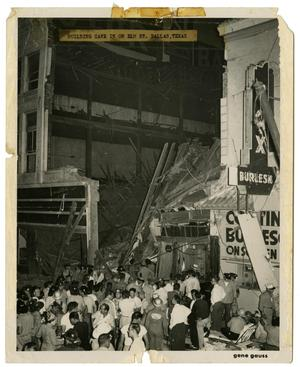 Primary view of object titled '[Building Collapse on 1400 Block of Elm Street]'.