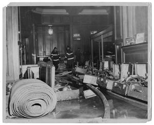Primary view of object titled '[Dallas Fire Department in the Adolphus Hotel]'.